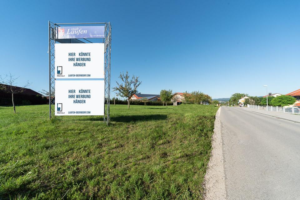 Großplakatständer Richtung Teisendorf