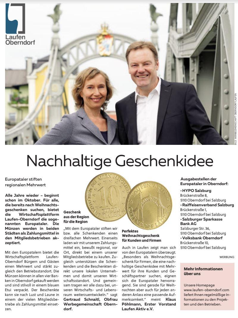 Europataler Bericht Laufen Oberndorf